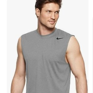 Nike Pro Fitted Dri-Fit Sleeveless Tank Gray XL